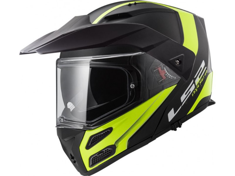 KASK LS2 FF324 METRO RAPID BLECK YELLOW 3XL