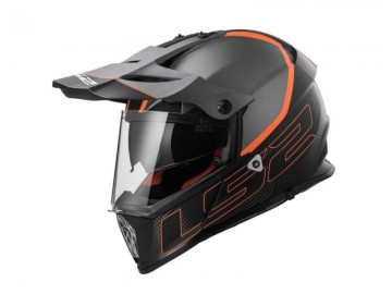 KASK LS2 MX436 PIONEER ELEMENT TITANIUM BLACK 3XL