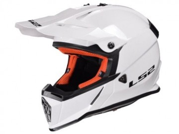 KASK LS2 MX437 FAST SOLID WHITE S