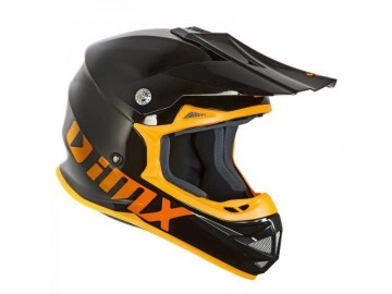 KASK GILERA CROSS  BLACK/WHITE/ORANGE XL