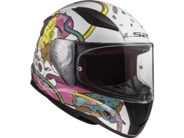 KASK LS2 FF353J RAPID MINI CRAZY POP W/PINK M