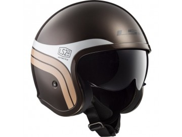 KASK LS2 OF599 SPITFIRE SUNRISE BROWN WHITE XXL
