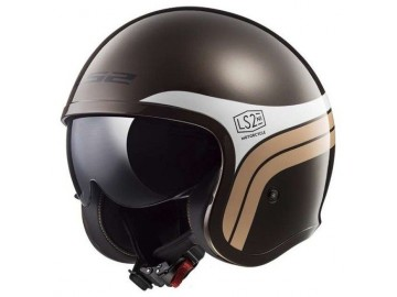 KASK LS2 OF599 SPITFIRE SUNRISE BROWN WHITE XL