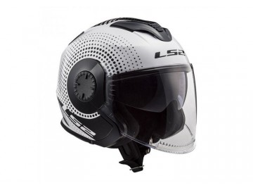KASK LS2 OF570 VERSO SPIN WHITE BLACK 3XL