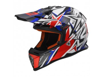 KASK LS2 MX437 FAST STRONG BLUE/RED L