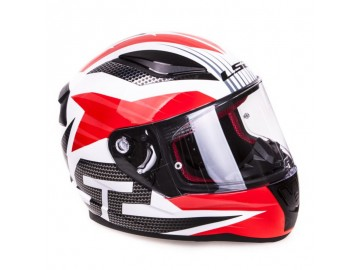 KASK LS2 FF353 RAPID GRID WHITE RED 3XL
