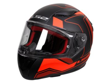 KASK LS2 FF353 RAPID CARRERA MATT BLACK RED M