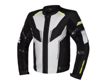 KURTKA REBELHORN BLAST ICE/BLACK/FLO YELLOW L