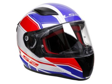 KASK LS2 FF353 RAPID INFINITY WHITE RED BLUE 3XL