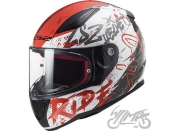 KASK LS2 FF353 RAPID NAUGHTY WHITE RED 3XL