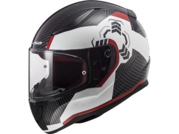 KASK LS2 FF353 RAPID GHOST WHITE BLACK RED S
